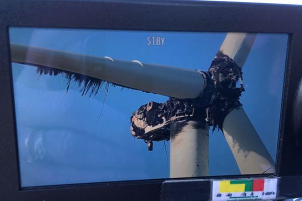 Le moteur de l'éolienne de La Limouzinière a pris feu dans la nuit du 2 au 3 janvier 2019