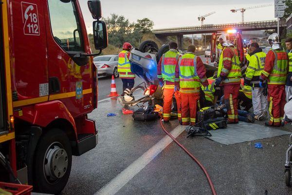 Une équipe de la brigade des marins-pompiers de Marseille (BMPM)