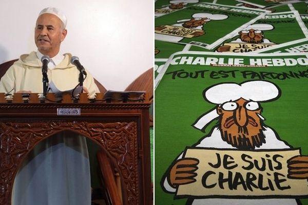 """Amar Lasfar juge la caricature de Mahomet en """"Une de Charlie Hebdo """"offensante""""."""