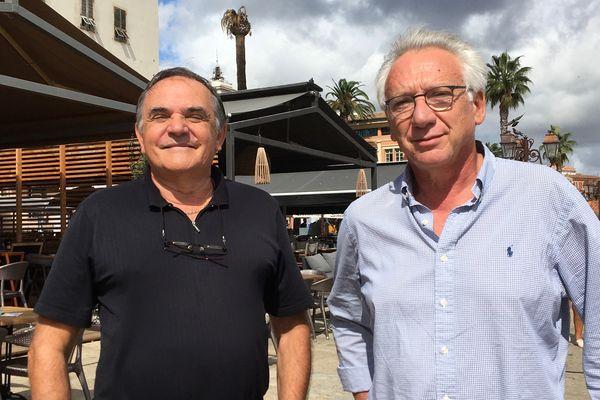 """Le neurologue Mathieu Ceccaldi (à droite) est à l'origine du projet Alpha 3. Il est ici avec le docteur Jean-Marc Cresp, membre fondateur de l'association """"U vaghjimu"""" créée en 2007."""