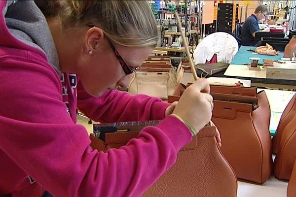 En 2012 déjà, les Ateliers d'Armançon collaboraient avec les lycéens de la formation maroquinerie du lycée de Montbard.