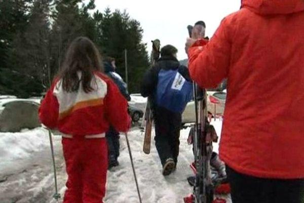 A La Bresse, avant de skier, il faut souvent marcher...