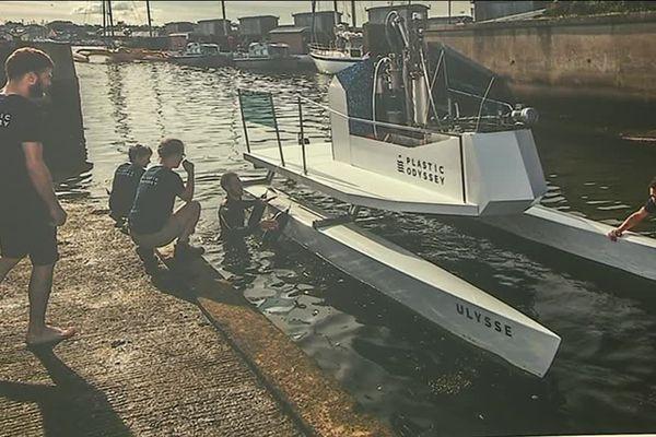 Plastic Odyssey, un catamaran propulsé grâce aux déchets plastiques