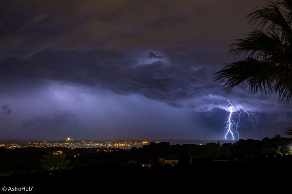 """Météo France avait placé le département des Alpes-Maritimes en vigilance jaune """"orages"""" et inondations ce lundi 20 septembre."""