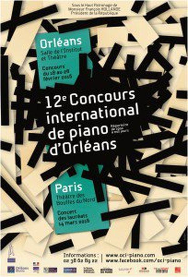 Affiche du 12e Concours internationale de piano d'Orléans.