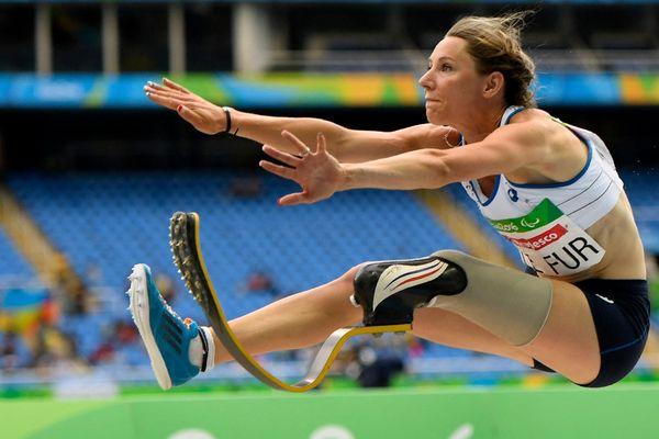 Marie-Amélie Le Fur aux Jeux Paralympiques de Rio en 2016, où elle avait établi un nouveau record du monde de saut en longueur.