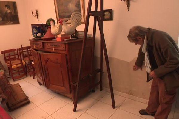 L'eau est montée jusqu'à 40 centimètres dans la maison de François