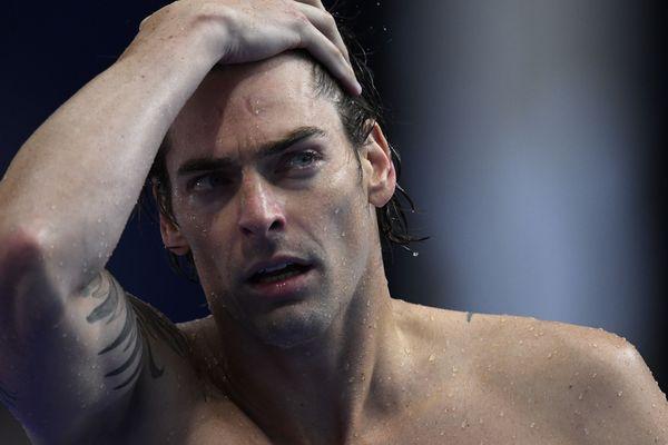 Camille Lacourt aux mondiaux de natation de Budapest