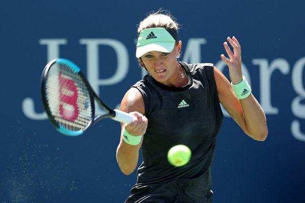 Kristina Mladenovic à l'US Open l'an dernier.