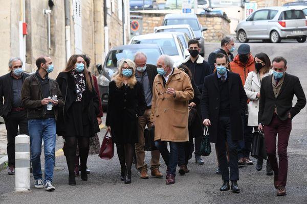 Le famille Fouillot à Vesoul, le 18 novembre, lors du procès de Jonathann Daval.
