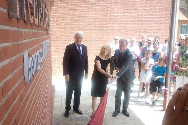 Maryse Wolinski a inauguré la médiathèque avec le maire de Fenouillet et le Président de Toulouse-Métropôle