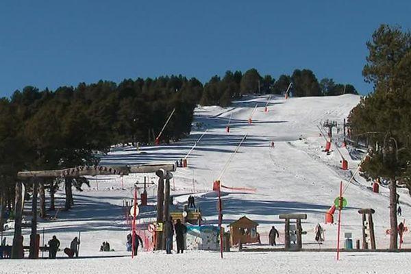 La station de Font-Romeu dans les Pyrénées-Orientales - 7 décembre 2017