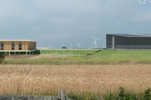 Le futur site de production d'hydrogène vert par Lhyfe, à Bouin en Vendée