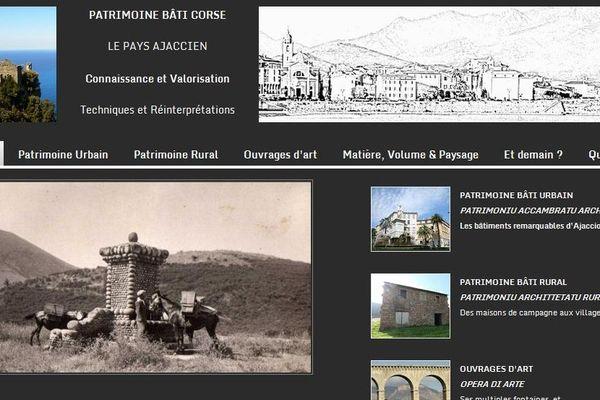 Saisie d'écran du site http://patrimoine-bati-ancien-de-corse.puzl.com