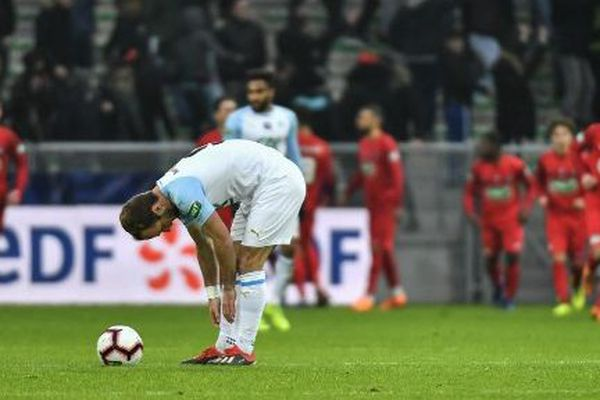 Les Marseillais éliminés en 32e de finale de la Coupe de France face à Andrézieux le 6 janvier 2019