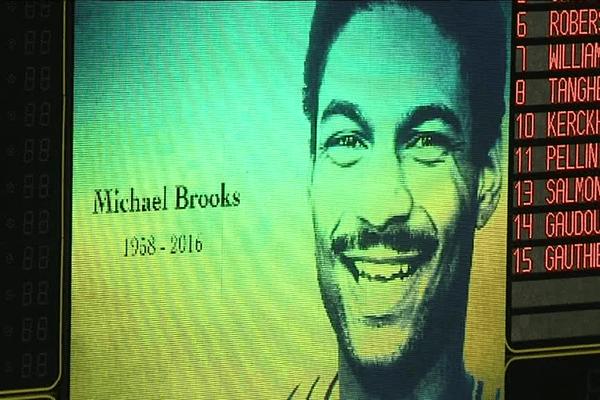 Michael Brooks, sur l'écran géant de Beaublanc