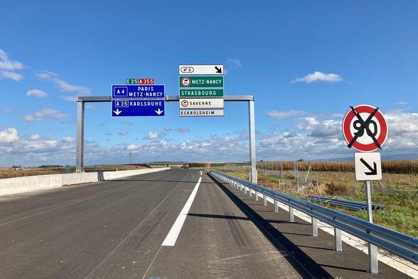Les derniers mètres d'enrobé ont été posés mi-octobre sur l'autoroute.