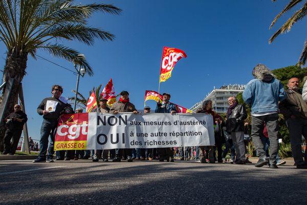 Une manifestation à Nice, le 22 mars 2018.