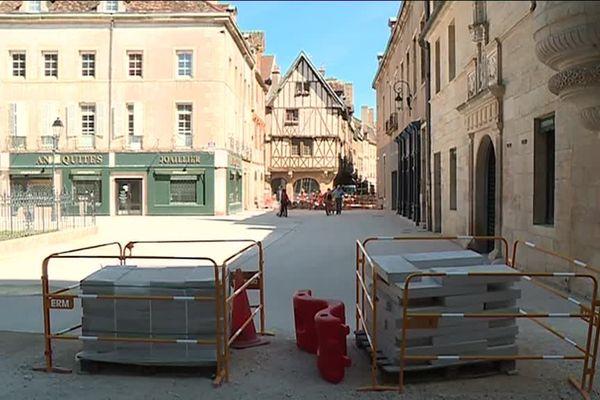Les travaux se terminent dans le centre historique de Dijon (août 2018)