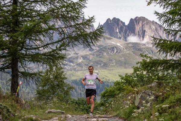 Stian Angermund sur le marathon du Mont-Blanc ce 4 juillet 2021.