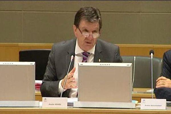 Justin Vogel, vice-président (UMP) du Conseil régional en charge des Finances