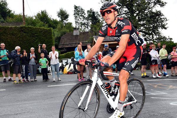 Le coureur cherbourgeois Amaël Moinard sur le Tour de France 2016