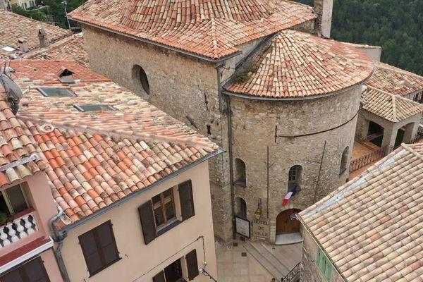 Ancienne chapelle de Saint-Sébastien des Pénitents noirs (XIIIe siècle) à Peille (Alpes-Maritimes)