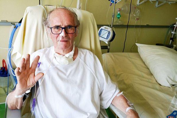 Michel Foucher après avoir passé 8 semaines en réanimation, maintenant il va beaucoup mieux