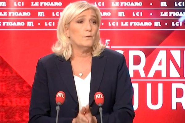 Marine Le Pen ce dimanche sur RTL et LCI