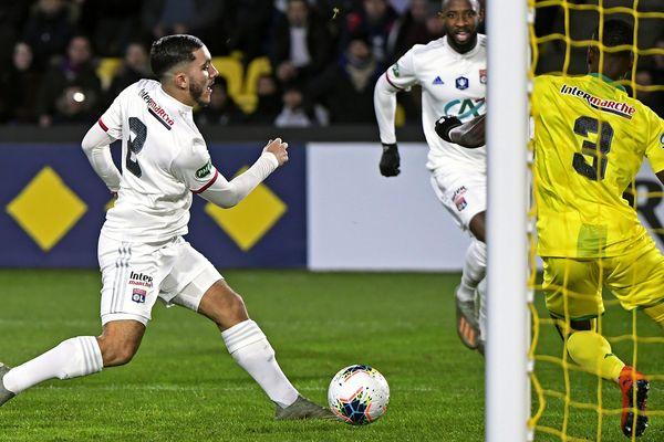 Rayan Cherki allant inscrire un but ce samedi 18 janvier face à Nantes