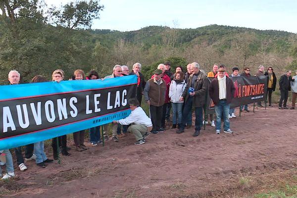 """""""Le plus gros risque réside dans la pollution des eaux du lac de Saint-Cassien"""" selon le comité de de protection de l'Estérel et du lac de Saint-Cassien."""