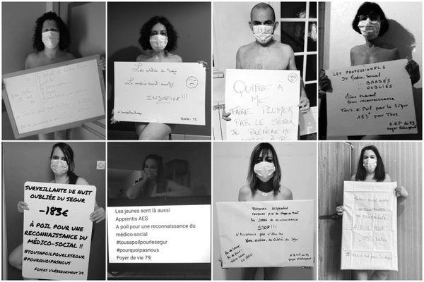 Grâce à ces photos, les salariés de l'Adapei79 espèrent faire connaitre leurs revendications.