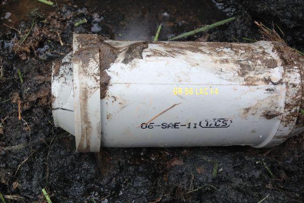 Douille de grenade sur la zad de Notre-Dame-des-landes, avril 2018