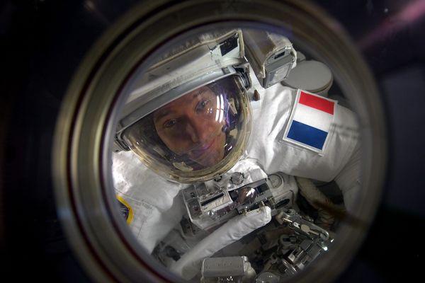 Thomas Pesquet en mars 2017 à bord de la Station spatiale internationale.