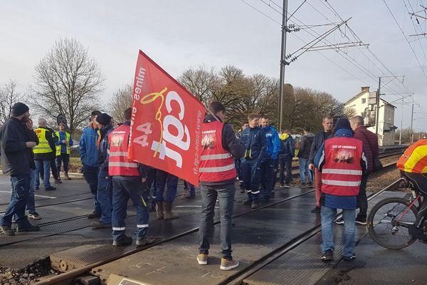 Les salariés de la centrale de Cordemais le 17 décembre 2018