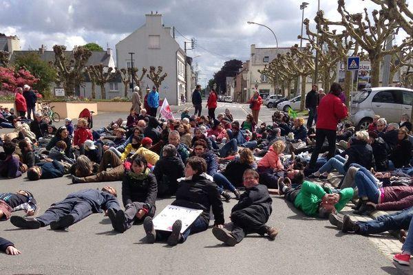 Manifestation contre la Centrale à gaz de Landivisiau ce 4 mai 2019