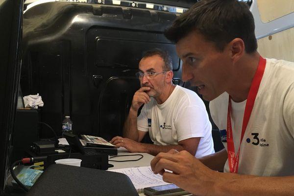 Freddy Vetault au montage avec Thierry Cormerais