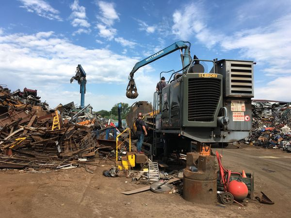 L'entreprise de Xavier Wittmann à Florange traite plus de 1200 tonnes de métaux divers chaque mois.