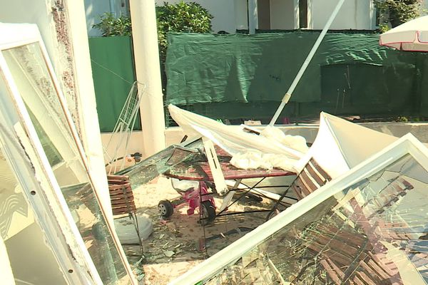 Les dégâts provoqués par l'explosion.
