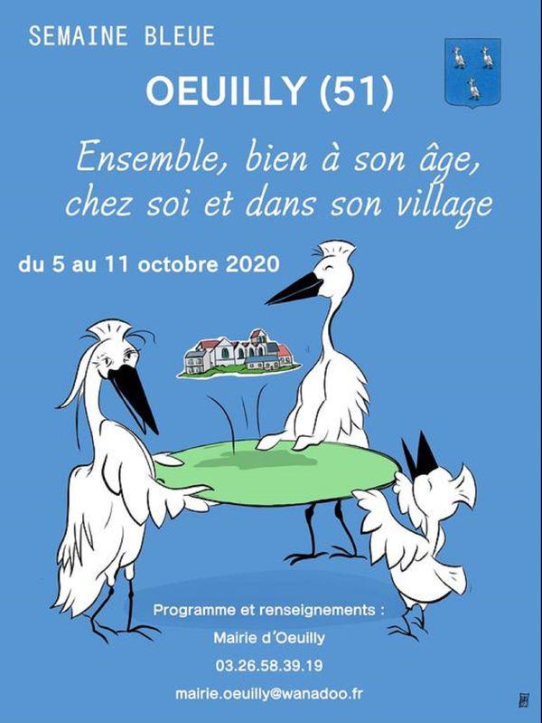 affiche de la semaine bleue à Oeuilly