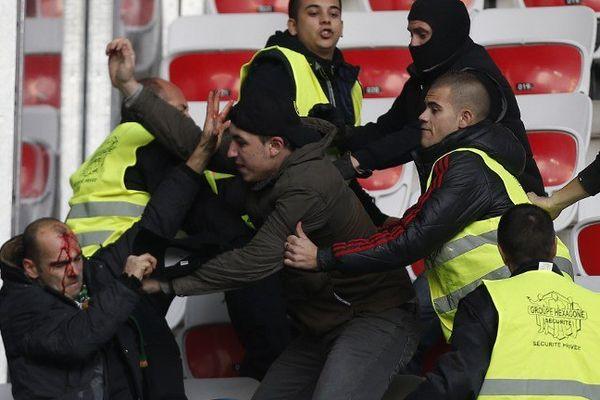 Incidents Nice - Etienne le 24 novembre