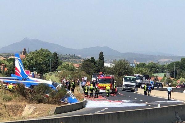 Le pilote de la Patrouille de France a réussi à s'éjecter lors du crash, à proximité de l'aéroport de Perpignan, ce jeudi 25 juillet