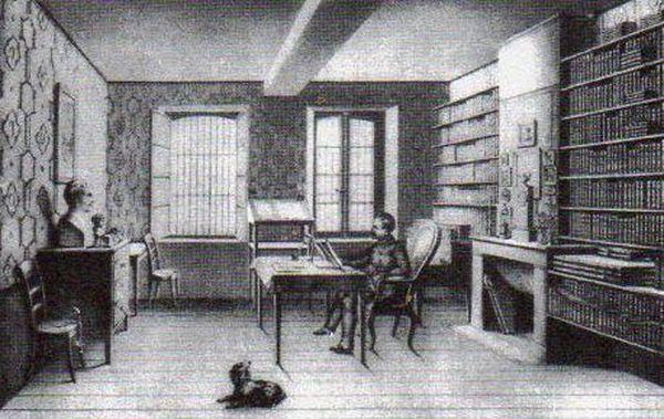 Le futur Napoléon III lors de son incarcération au château de Ham, en compagnie de son chien.