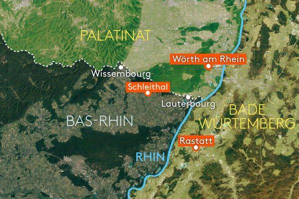 Schleithal se situe dans le nord de l'Alsace.