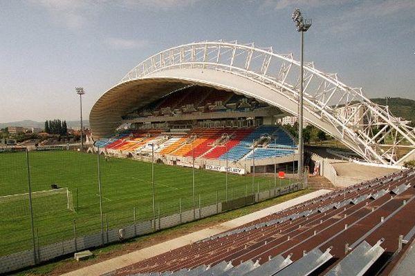Le stade Montpied à Clermont-Ferrand accueille l'équipe du Clermont Foot 63 (Ligue 2)