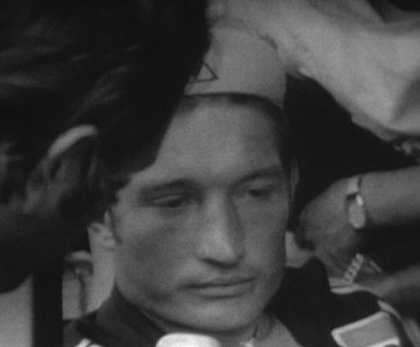 Cyrille Guimard, quelques instants après son abandon