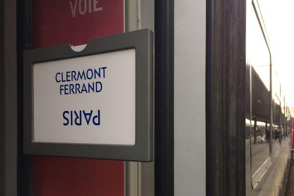 Dimanche 20 octobre, seul un aller-retour entre Paris et Clermont-Ferrand est programmé en raison d'un mouvement social.