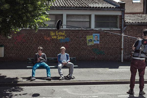 """Photo de tournage de la web-série """"Les Chicons"""""""