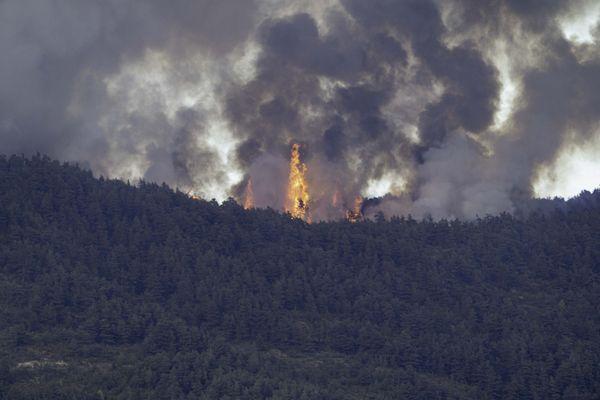 L'incendie à Montguers dans la Drôme a ravagé 200 hectares
