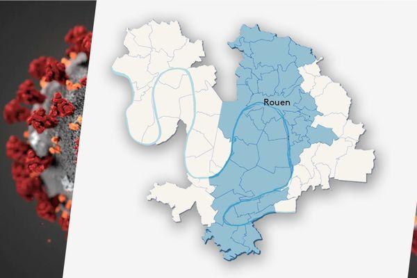 Les 33 communes de l'agglo de Rouen concernées par le couvre-feu